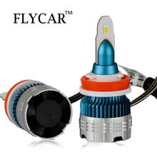 FLYCAR MINI Size Turbo LED Headlight Bulbs Auto Fog Lamp H1 H3 H7 H8/H11 9005/HB3 9006/HB4 Car LED H4 H13 9004 9007 12V 24V LED 2x auto led lights car headlight conversion kit bulb h1 h3 h4 h7 h11 h13 880 9005 hb3 9006 hb4 led car fog light bulbs 12v 24v