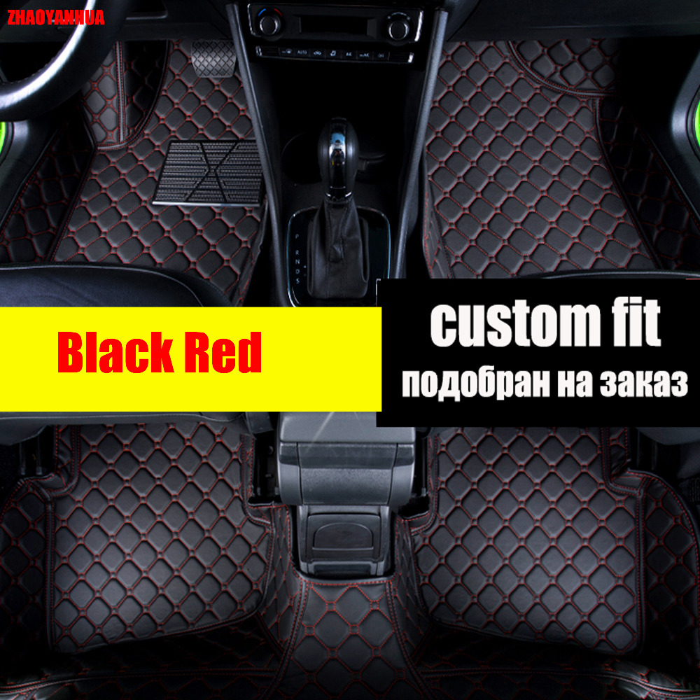 Zhaoyanhua car floor mats for honda crv cr v accord hrv vezel crosstour fit city 6d all weather car styling carpet floor liners