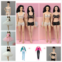 1 Set Sexy Pajamas Colorful Clothing Underwear Lingerie Bra Dress Lace Homewear Accessories Clothes for Doll(China)