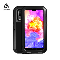 Aluminum Metal Case For Huawei P20 Pro Gorilla Glass Phone Full Body Protective Heavy Duty Shockproof
