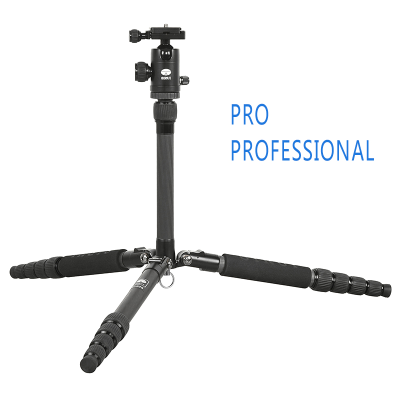 Sirui DHL Free Mini Travel Carbon Tripod+Ball Head Kit Professional For Digital Camera Portable Traveling Tripod T025X+C10X sirui a 1205 a1205 tripod professional carbon fiber flexible monopod for camera with y11 ball head 5 section free shipping