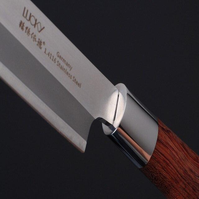 Sashimi Knife slicer Germany SS Rosewood handle Salmon fish fillet knife Kitchen Knife left-hand blade Knives freeship9.01 3