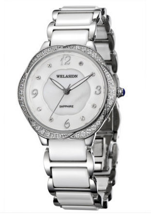 Factory Genuine Ladies Ceramic fashion quartz Watch waterproof white relogio feminino women Sapphire mirror girls Luxury watches