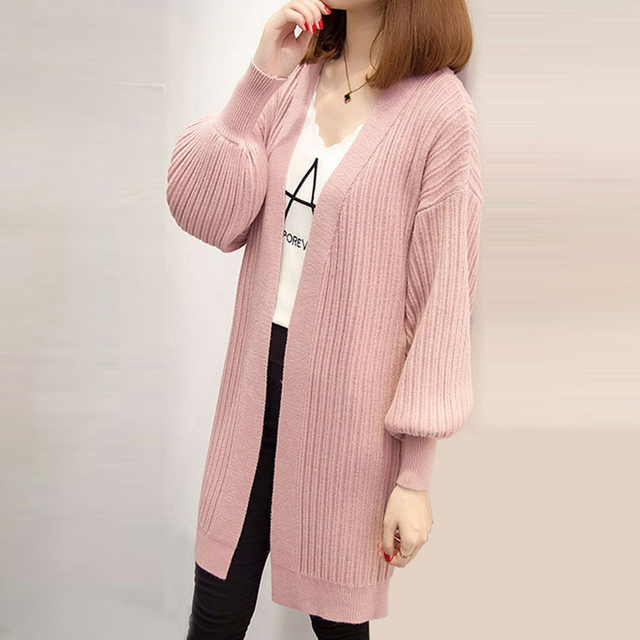 d595566fe23a 2018 Spring Autumn winter Knitted Sweater Cardigan Women winter ...
