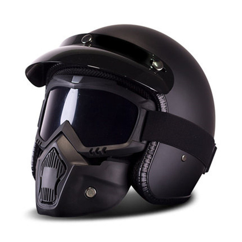 New Motorcycle Helmet Retro Vintage Synthetic Casco Moto Cruiser Chopper Scooter Cafe Racer 3 4 Open
