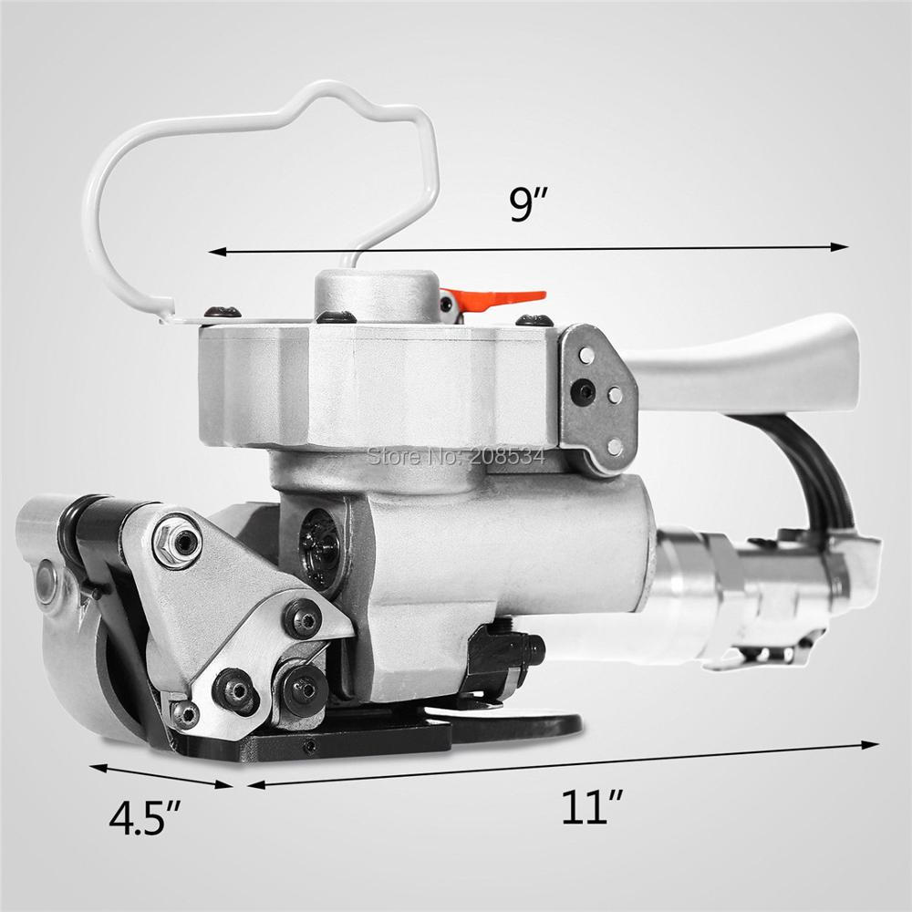 XQD-19 Pneumatiniai plastikiniai ir PP, PET ir polietileniniai deriniai, įtempiantys ir trinantys, pleištiniai ir pjovimo surišimo įrankiai, naudojami pramoninėje pakuotėje