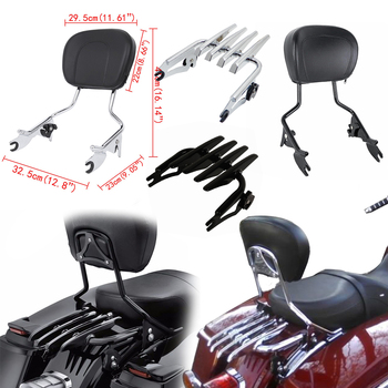 For Harley Touring Road King Street Glide Electra Glide Detachable Backrest Sissy Bar With Stealth Luggage Rack 2009-2018 2019 for harley touring road king street glide electra glide detachable backrest sissy bar with stealth luggage rack 2009 2018 2019
