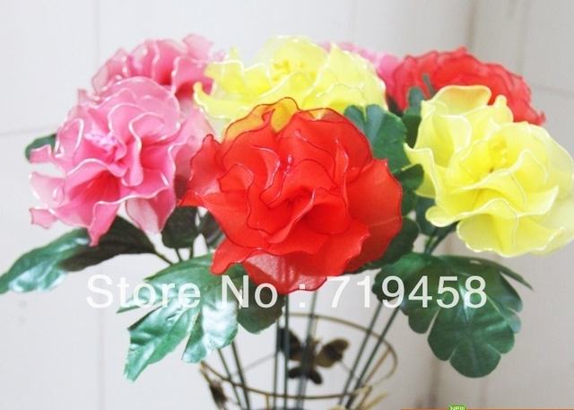Handmade silk flowers -- peony