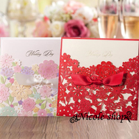 30psc Beauty Hollow-out Red Multicolor Wedding Invitation Card Invitations Happy Birthday Party Supplies for Bride Diy Mariage