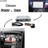 OLOPKY For Citroen Park Assist Front & Bakcup Rear camera interface Reverse Improve C4 C5 C6 DS3 DS5 DS6