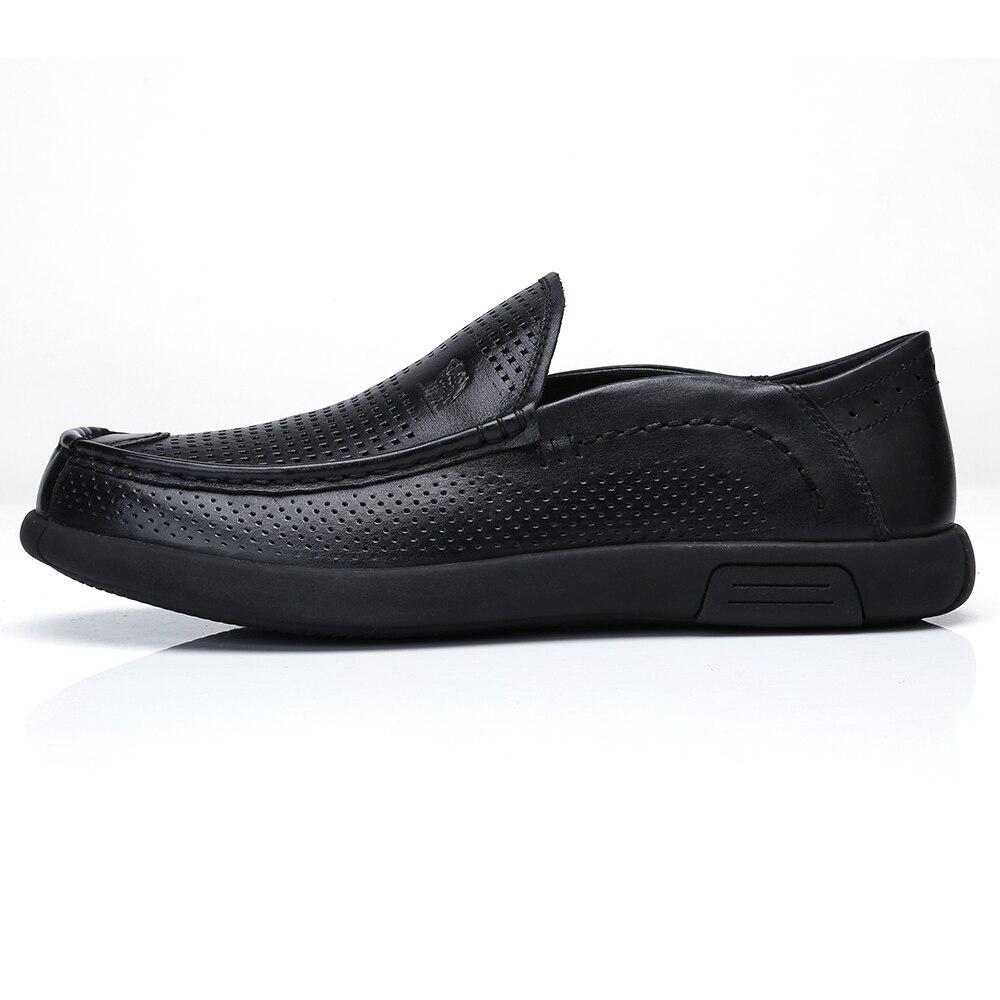CAMEL respirable agujeros hombres zapatos mocasines suave Flexible cuero de vaca genuino hombre negocios mocasines planos calzado de conducción hombre-in Zapatos informales de hombre from zapatos    3