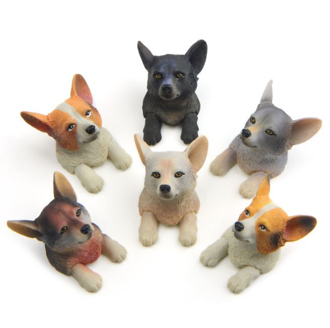 1 шт. Kawaii Пёс из мультфильма головы магнит на холодильник миниатюрный корги собака фигурку игрушки магнит на холодильник Стикеры детей пода...