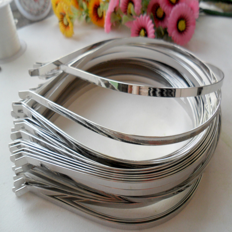 Оптовая продажа мм 3 мм 5 мм 7 мм DIY металлические заколки для волос повязки для волос DIY аксессуары обручи для волос ювелирные изделия для девочек головные уборы 20 шт./лот
