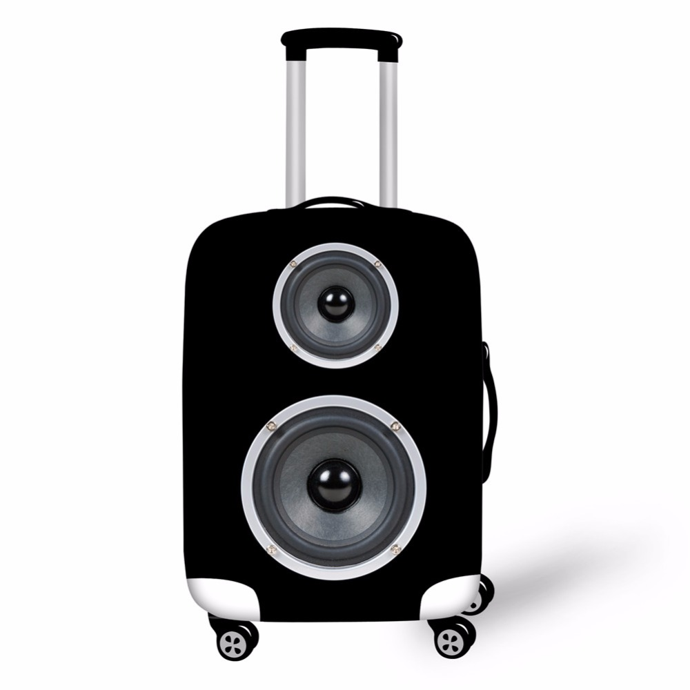 Thick Elastic Luggage Protective Covers Simulation Speaker Printed Cover For 18-30 Inch Travel Case Suitcase Waterproof Cover