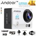 Anoder Ultra HD 4 K Wifi Cámara de Acción 1080 P Hd 16MP 170 grados Lente Gran Angular Mini Cámara Videocámara Estuche Estanco Al Agua