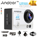 Anoder Ultra-HD 4K Wifi Action Camera 1080P Full HD 16MP 170 degree Wide-Angle Lens Mini Camera Camcorder with Waterproof Case