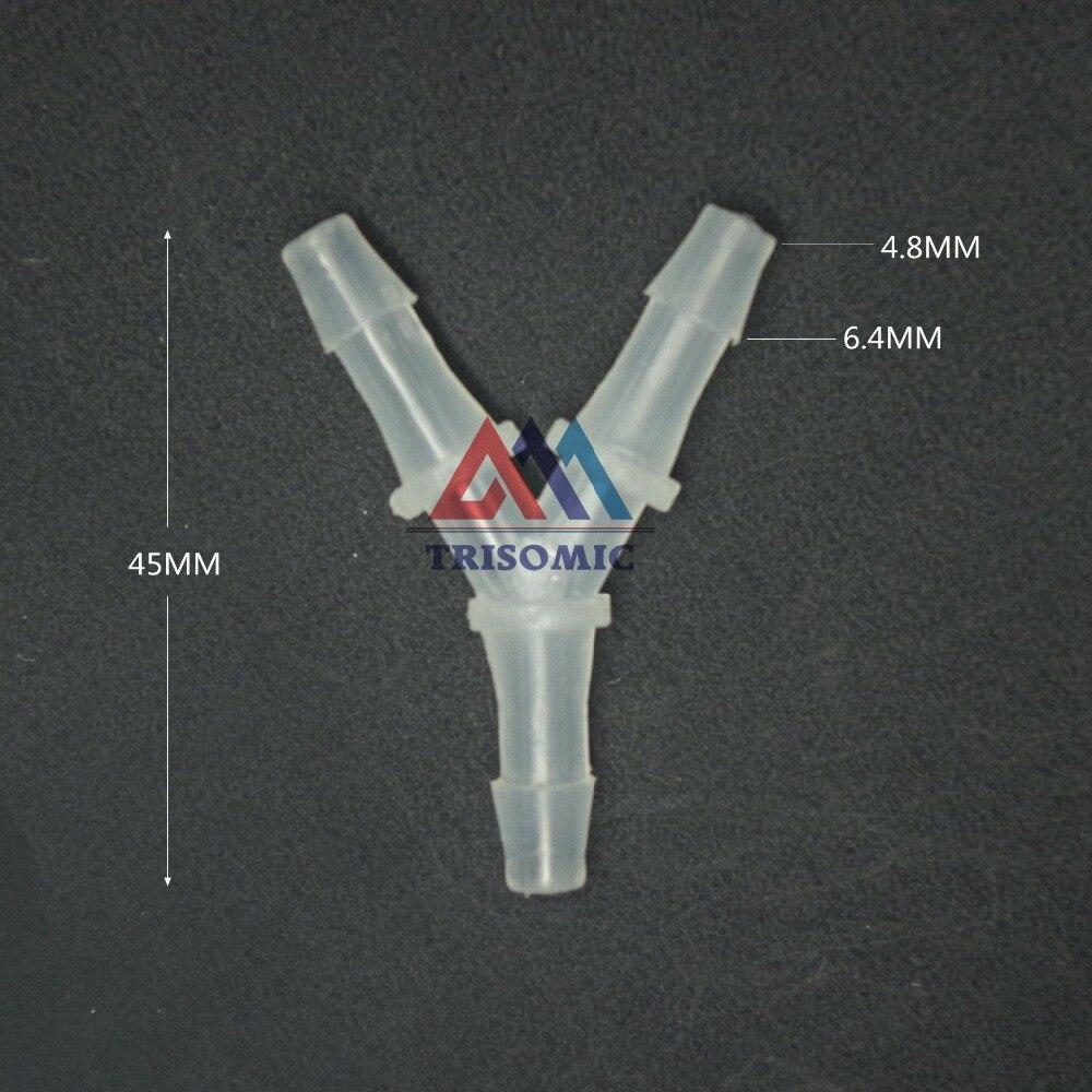 4,8mm Y Tpye Equant Stecker Gleich Rohr Joiner Material Pp Kunststoff Montage Aquarium Airline Aquarium Heimwerker Rohrverbindungsstücke
