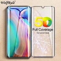 Cristal templado de borde curvado 5D para Huawei P30 Pro Protector de pantalla de vidrio 9H vidrio de cubierta completa para Huawei P30 Pro película Huawei P30 +