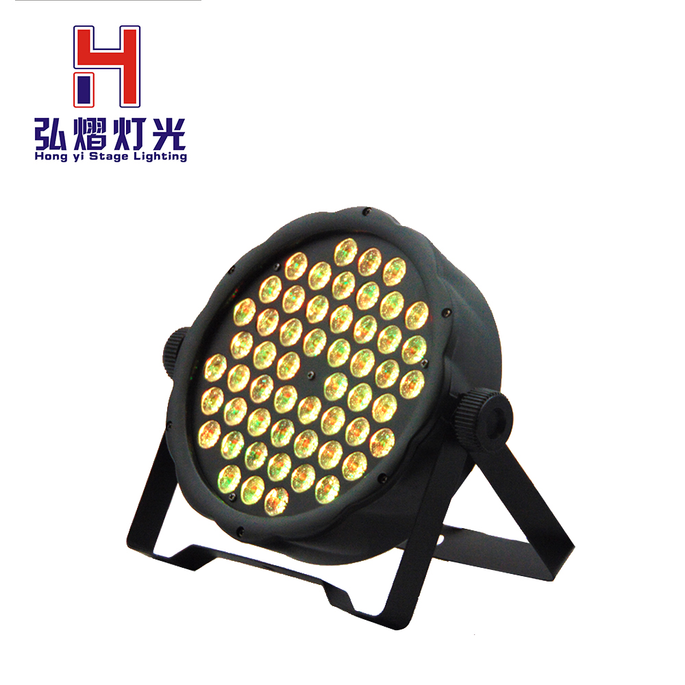 LED Par Can 54 x 3W RGB Color Full color With 7 Channels Light For DJ lighting