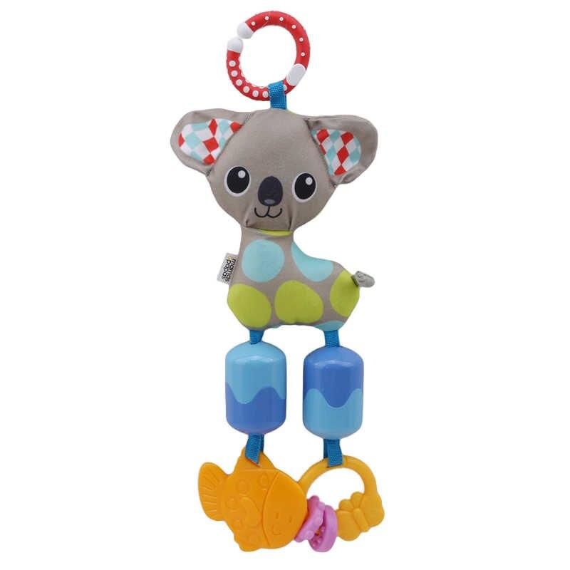 สุนัขรถเข็นเด็กการศึกษา appease Turn beads ของขวัญตุ๊กตาเด็กแหวนกระดาษที่มีสีสัน 20 ซม.น่ารัก rattle แขวน cognition เด็กอ่อนของเล่น