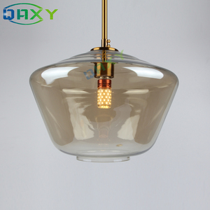 Image 5 - Post Modern Clear/Amber Glass Shade Pendant Lights 3 Style Attractive Hanging Light Kitchen Bar Hotel Shop Pendant Lamps[D1501]
