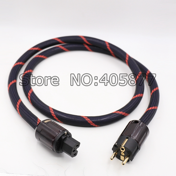 Hi-End OFC PURE COPPER Copper Power cable with Schuko Power Plug Audio Power cable hifi стоимость
