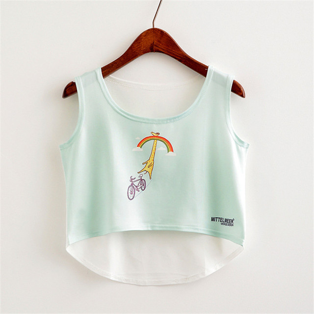 """KAWAII"" assorted cropped tops 2"