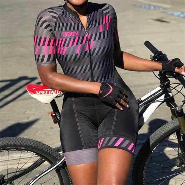 الترياتلون skinsuit الصيف الرياضية النساء قصيرة الأكمام الدراجات جيرسي مجموعة بذلة roupa ciclismo الأنثوية الزي الرسمي
