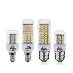 1 шт. E27 E14 светодиодный кукурузная лампа SMD 5730 лампы в форме свечи 220V домашняя декорационная лампа для Люстра-прожектор 12 24 36 48 56 69 светодиодны...