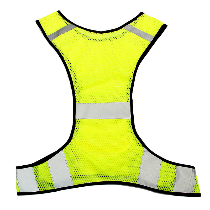 4pcs Fluorescent Yellow High Visibility Reflective Vest Security Equipment Night Work New Arrival High Quality Free Shipping