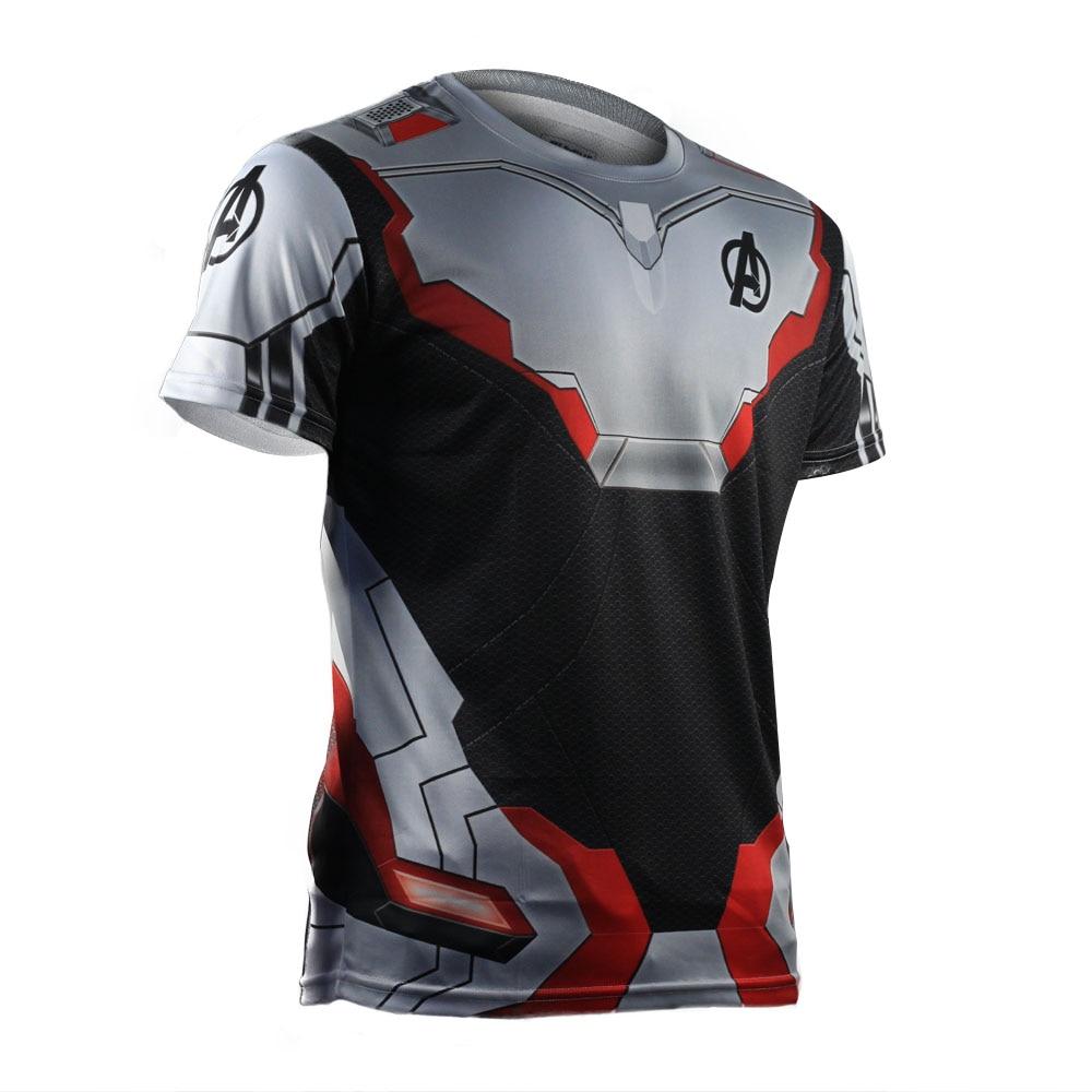 3D Avengers Endgame Realm Cosplay T-shirt Iron Man Captain Marvel Captain America Black Widow Costume Sport Tight Tees Dropship9