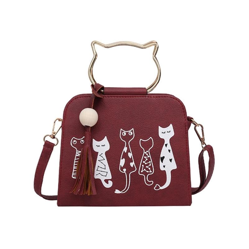 Lusso Di Patter Bag Borsa Donne Delle Gatto Spalla 1 2 Donna Borse Modello Del Coniglio Animali Messenger Crossbody Uqx6FF