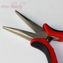 Многофункциональные плоскогубцы для наращивания с плоским наконечником для нано колец с микрошариками, профессиональные щипцы для наращивания волос для удаления волос