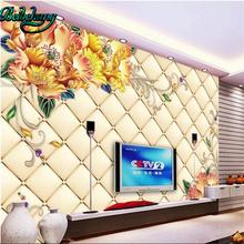 beibehang Floral 3D TV background wall murals living room be