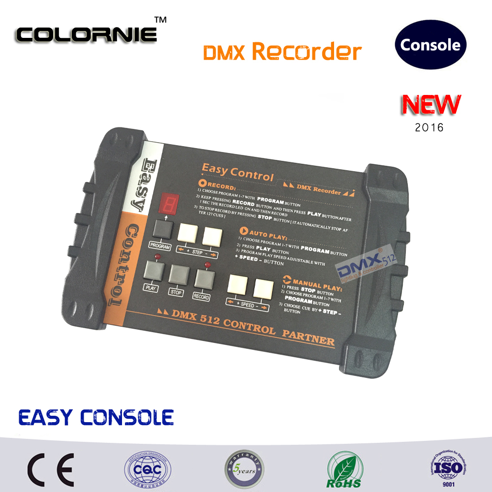 DHL Free shipping  hot Sale  DMX512 Controller DMX Recorder Easy Console for stage lighting fast shipping time by dhl hot sale printhead dx4 for roland eco printer