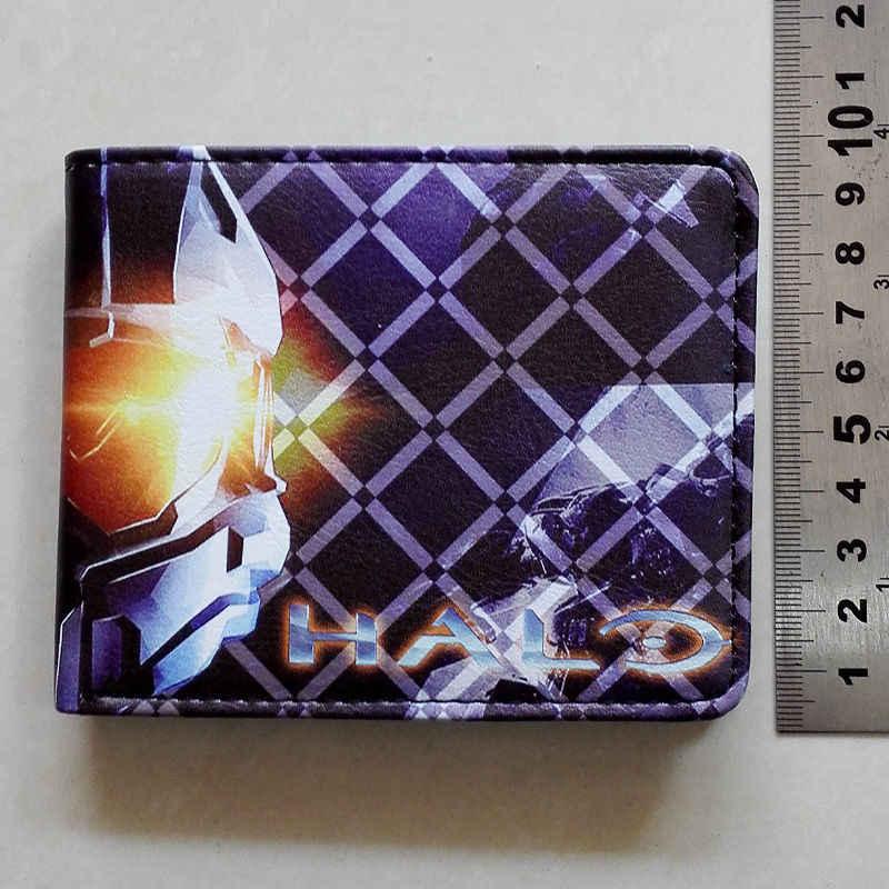 7eab4955245e ... 2018 FPS игры Halo логотип кошельки кошелек Multi-Цвет 12 см кожа  мужчина женщины Новинка ...
