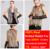 Genuino de las señoras de Punto Chaleco de Piel de Conejo de piel de Mapache Recorte Borlas Chaleco Señora Gilet Piel de Las Mujeres Natural Fur Coat QDMJ001