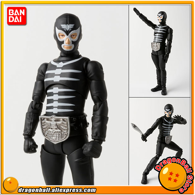 Japan Anime Masked Rider Original BANDAI Tamashii Nations S.H. Figuarts / SHF Action Figure - Shocker Combatman (Bone)