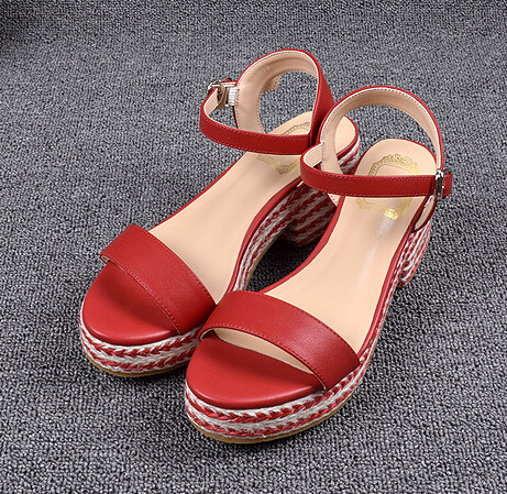 Black Wedges Sandals Sexy Women Shoes High Heels Platform Sandals Shoes For Women 7CM High Heels