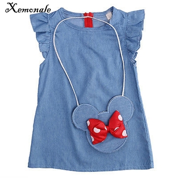 Xemonale Toddler Childrens Clothes casual princess Baby Girls Dress Minnie Mouse Demin Gown Formal Party Dresses Casual Clothes