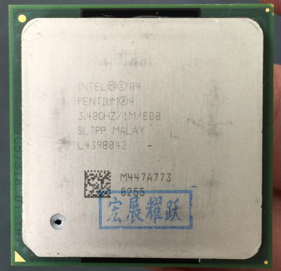 Intel Pentium 4 P4 3.4GHz P4 3.4  P4 3.4E  Socket 478  1M 800 SL7PP EO  specifications  P4 3.4E