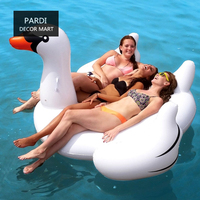 Ins Summer Hot L/S Adult size White Swan riding swimming ring Party Inflatable swimming ring swim props party supplies
