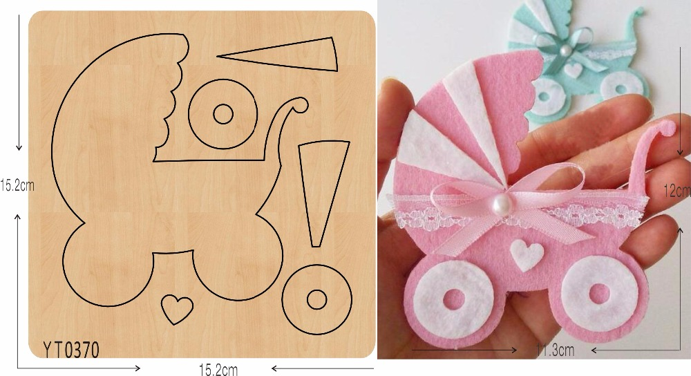Baby carriage wooden die YT0370 Scrapbook mold