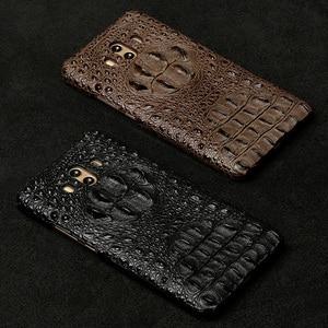 Image 5 - Wangcangli Lederen telefoon case voor Huawei Mate 10 Krokodil schedel patroon Half pack telefoon cover telefoon bescherming case