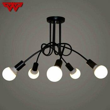WOOTOP Mỹ Sáng Tạo Sắt Nghệ Thuật nhà hàng đèn chùm cổ điển mềm công nghiệp đèn chùm đơn giản led đèn chùm
