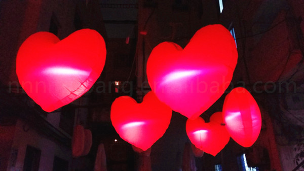 Free Shipping Diameter 1.5m Decoration Inflatable Heart Shape Balloon