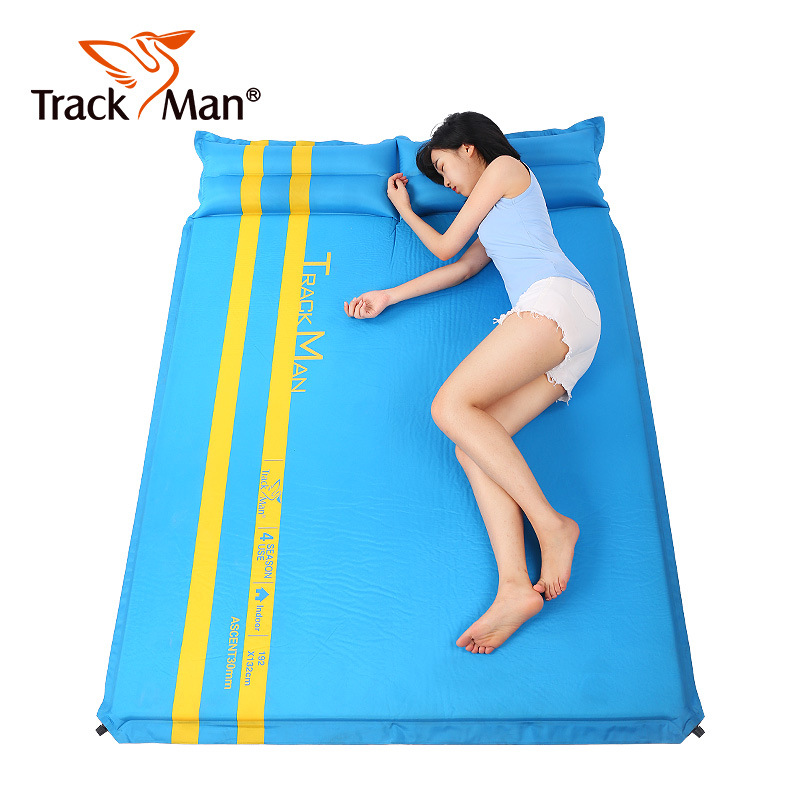 Outdoor camping mat 2 Person Foam Automatic inflatable mattress Moistureproof air mattress folding camp bed hiking pad betos car air mattress travel bed auto back seat cover inflatable mattress air bed good quality inflatable car bed for camping