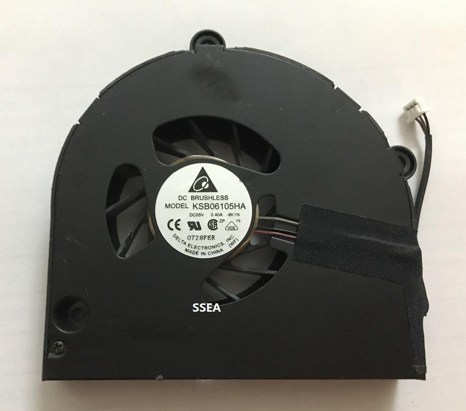 SSEA ახალი ლეპტოპის CPU გამაგრილებელი გულშემატკივარი Acer Aspire 5740 5740G 5741 5742 5742G 5551 5552 5552G 5251 5253 5252 გამაგრილებელი გულშემატკივართა KSB06105HA