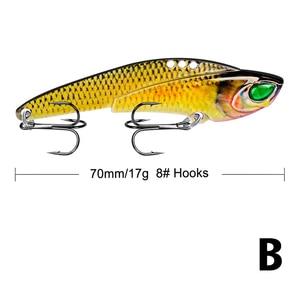 Image 5 - 1 pz metallo VIB 17g / 7cm richiamo di pesca vibrazione cucchiaio richiamo Crankbait basso artificiale esca dura cicala VIB affrontare