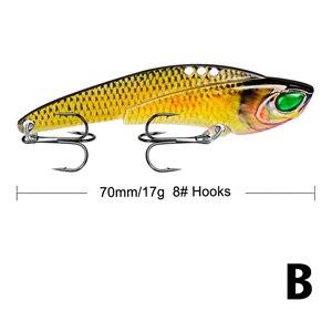Image 5 - Señuelo de pesca de Metal VIB de 17g/7cm, cuchara con vibración, señuelo Crankbait, cebo duro artificial de lubina, aparejos de Cicada VIB, 1 Uds.